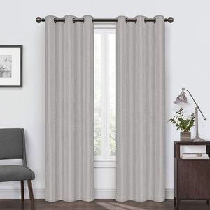 Eclipse gray blackout curtain panels